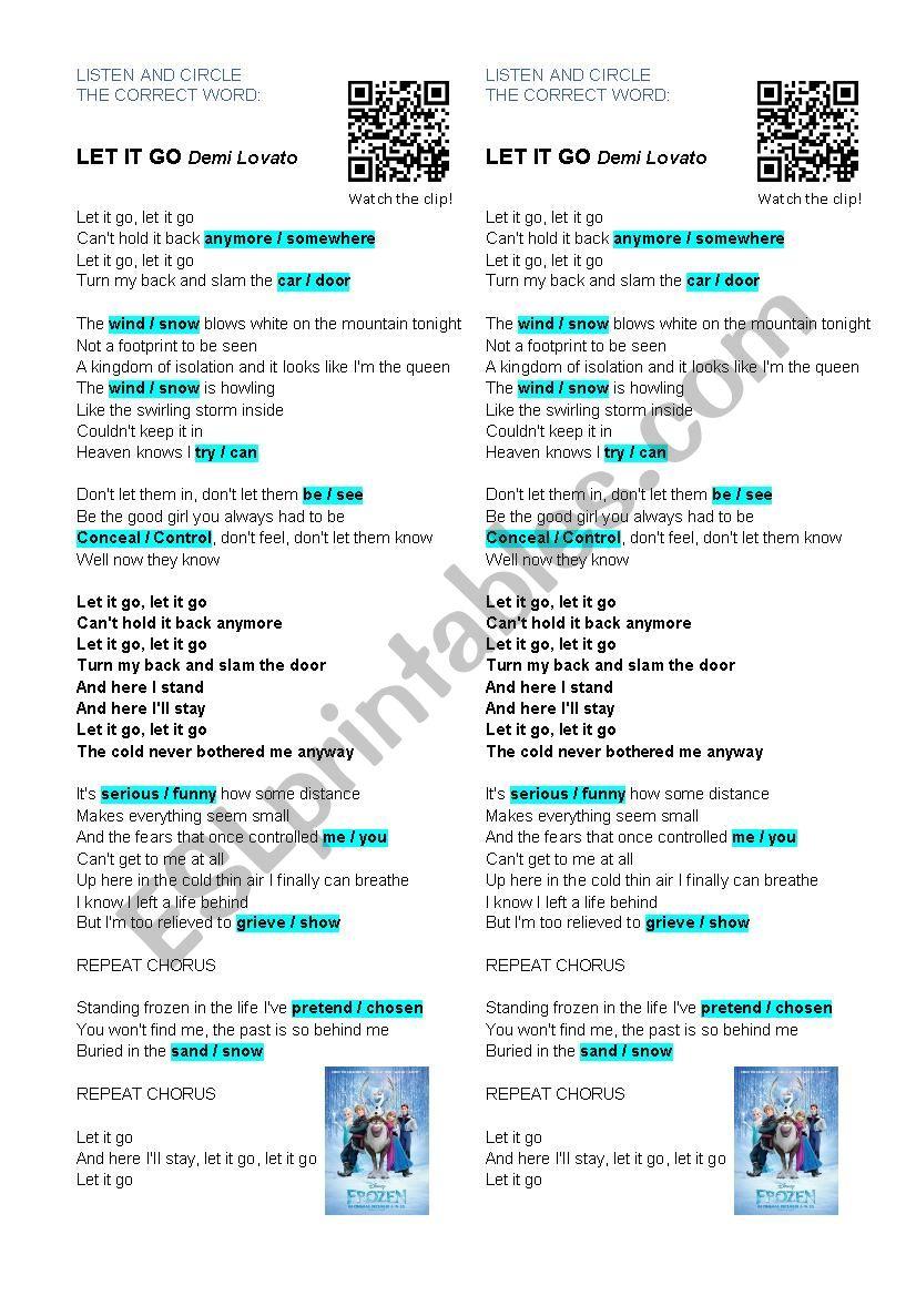 LET IT GO - Demi Lovato [Frozen]